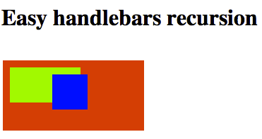 Recursive HandleBars templates made easy | Currently Under Development