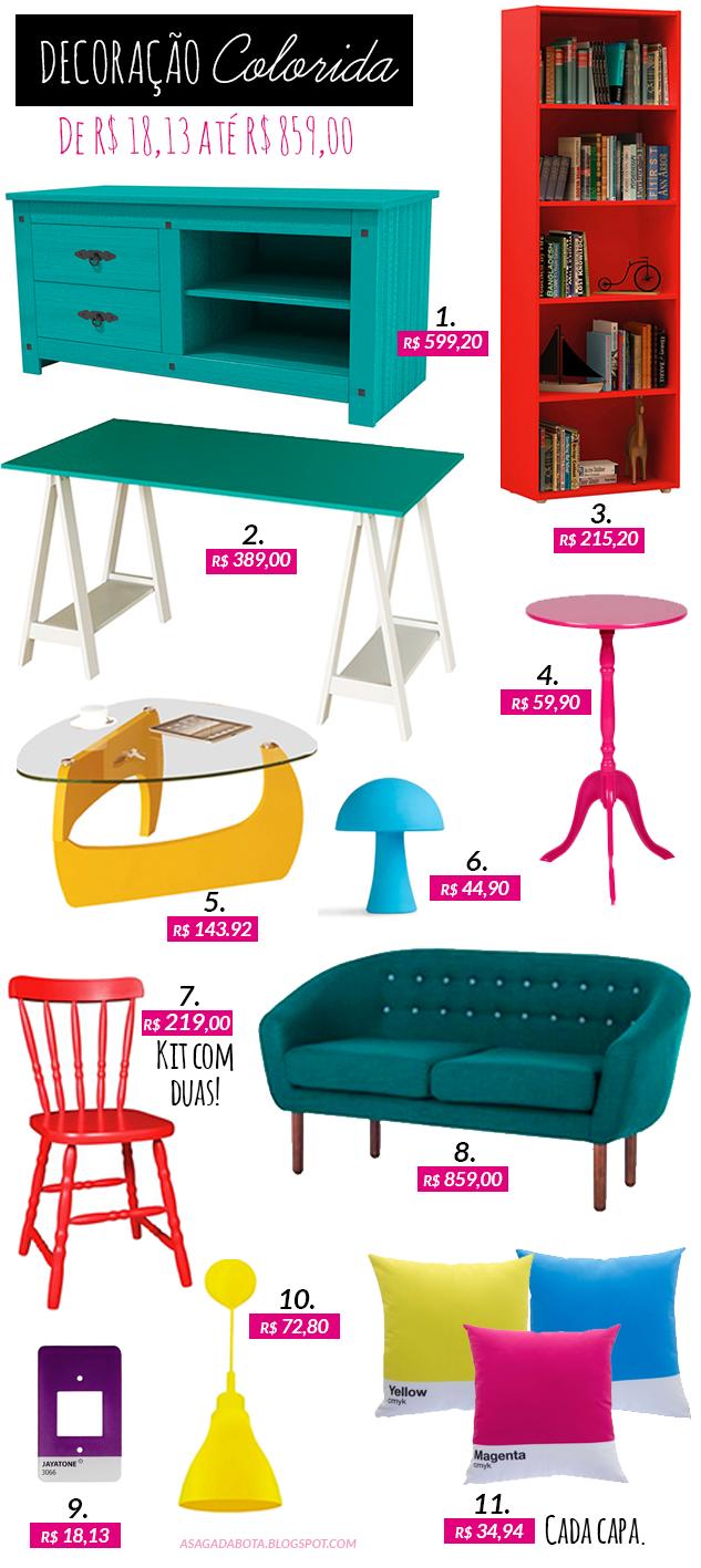 móveis coloridos, azul turquesa, rosa, amarelo, vermelho, decor, sofá, mesa, almofada CMYK, apagador pantone, móveis, como decorar