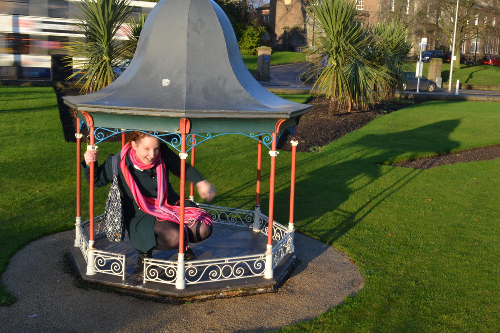 Me in a tiny bandstand