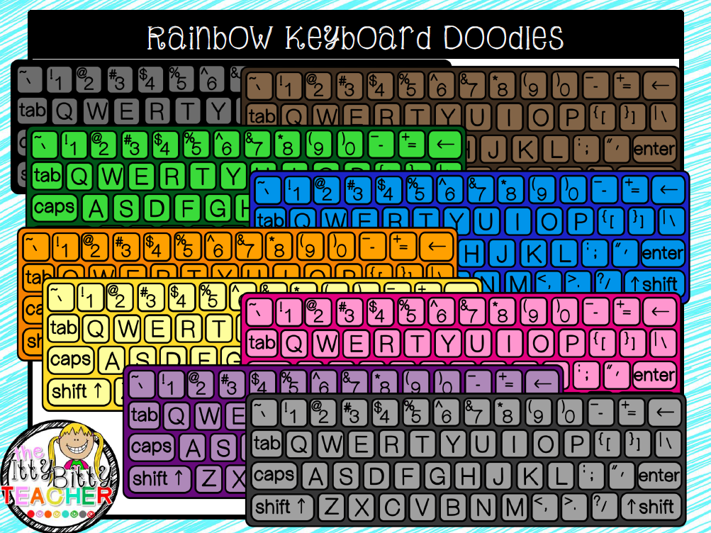 https://www.teacherspayteachers.com/Product/Clipart-Rainbow-Keyboard-Doodles-1727021