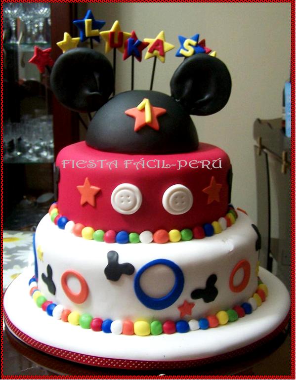 FIESTA FACIL PERU: Torta Mickey Mouse y Minnie Coqueta