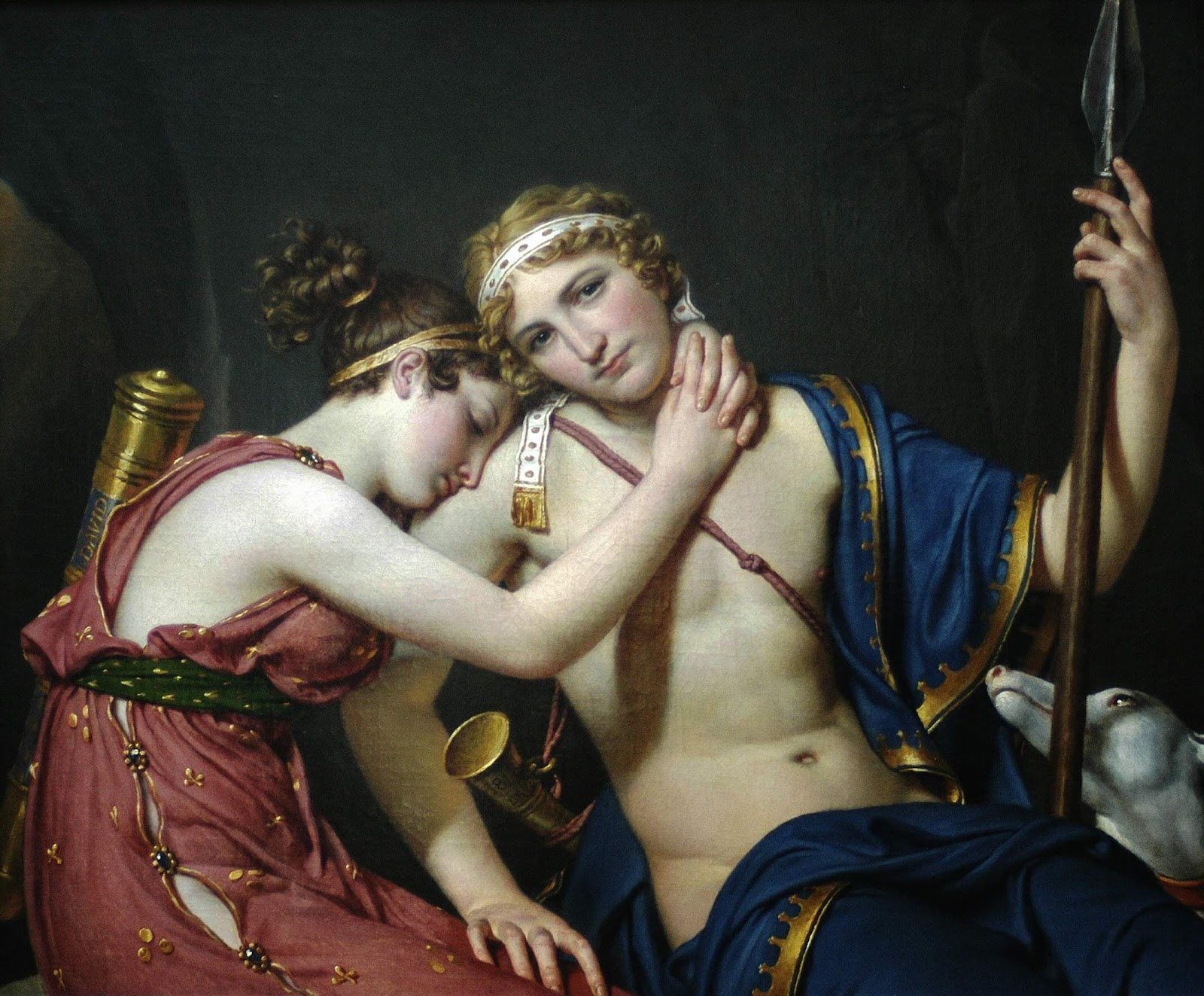 The Farewell of Telemachus and Eucharis.  87x103cm. 1818