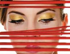 maquilhar com sombra de olhos dourada