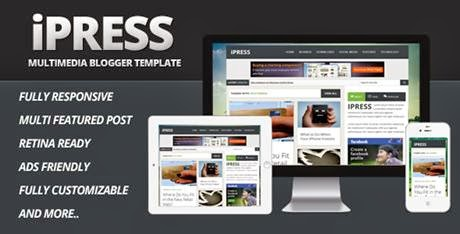 iPress v1.1 Themeforest Multimedia Blogspot - bwtemplate blogs