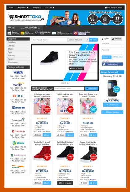 Download tema toko online wordpress