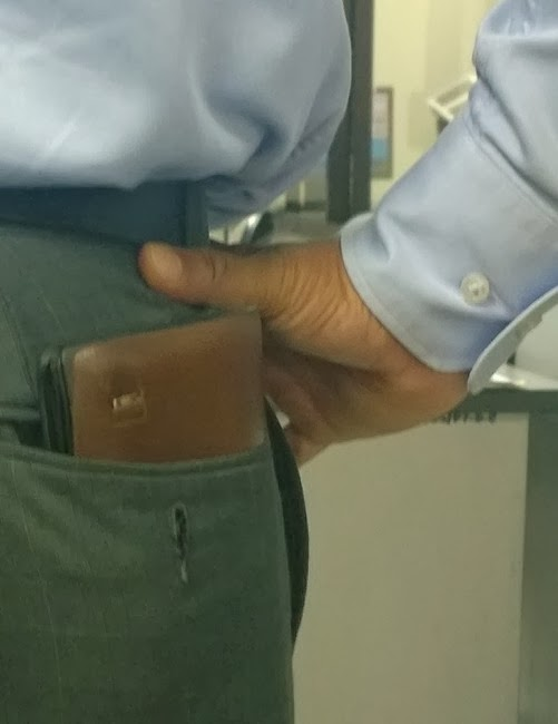 Large Wallet in Pocket