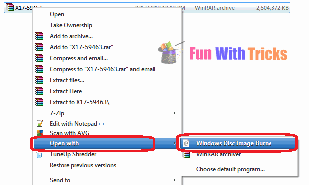 Burn ISO Image In Windows 7_FunWidTricks.Com