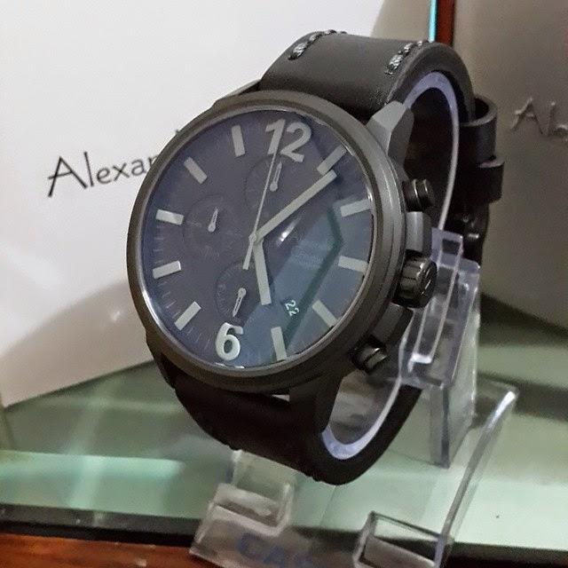 jam tangan alexandre christie 6267 full black