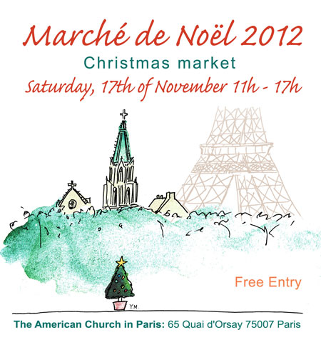 Marché de Noël at American Church in Paris by Yukié Matsushita