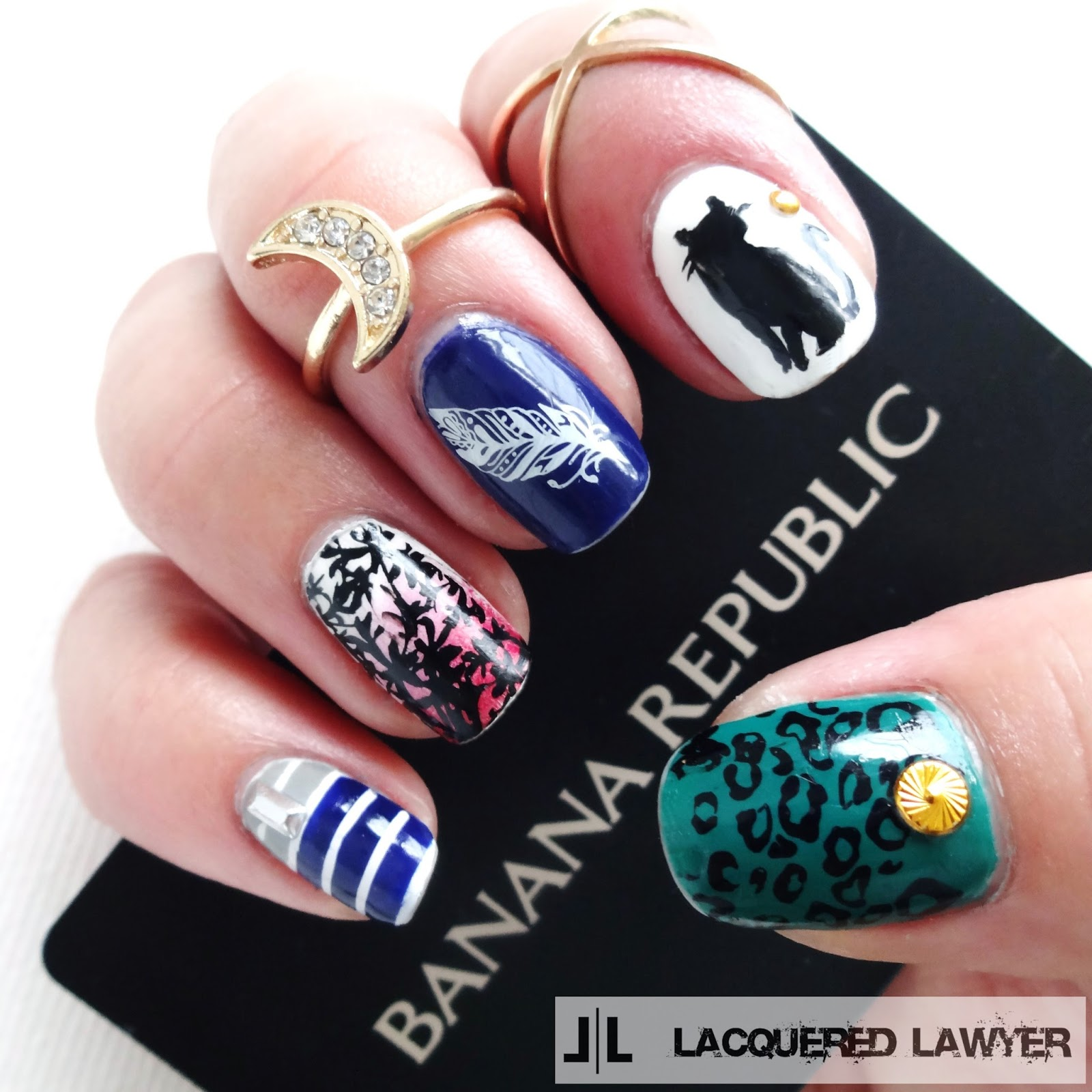Banana Republic Nail Art