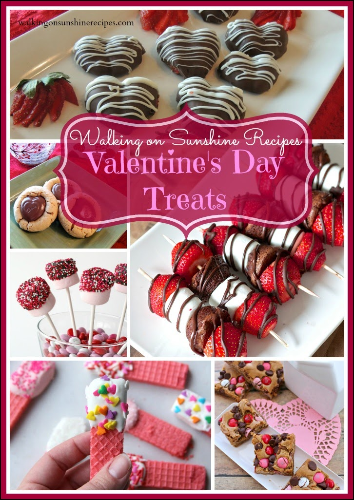 A great collection of EASY treats for Valentine's Day on Walking on Sunshine Recipes