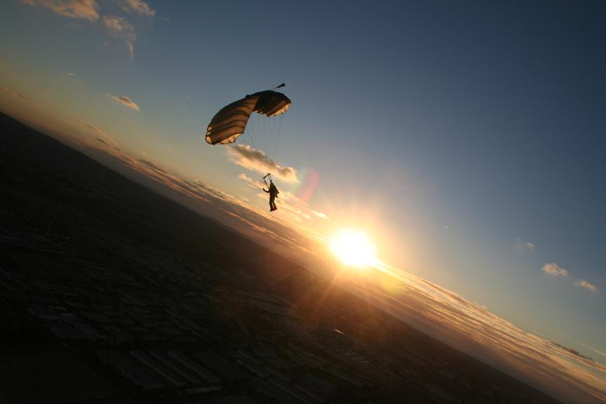 skydiving wallpaper sunset free -#main