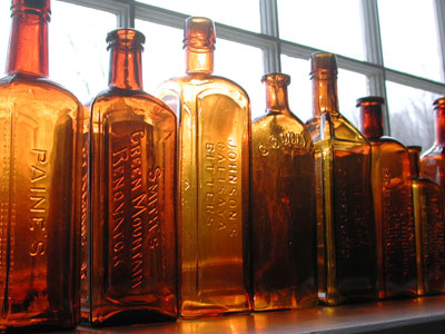 Vintage Medicine Bottles Courtesy of Early Vermont Medicines