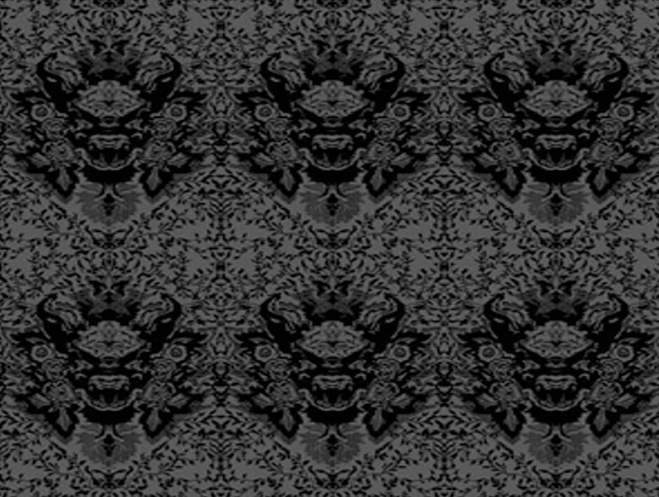 black damask wallpaper on - photo #14