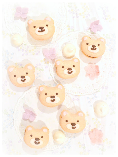 Cherie Kelly's Teddy Bear Chocolate Ganache Macarons