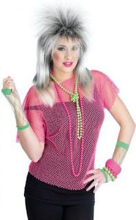 neon pink string vest