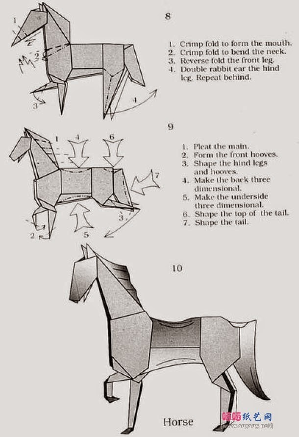 origami horse instructions easy origami instructions for