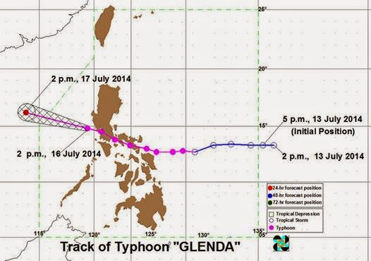 Storm Signals lowered as Typhoon 'Glenda' moves away from PAR