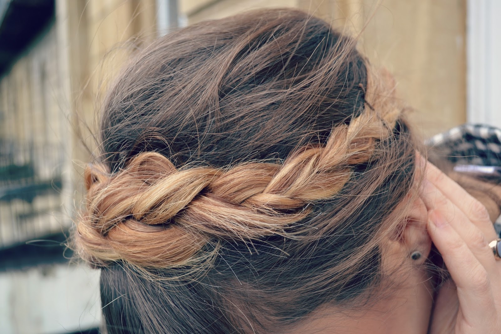 ombre halo braid