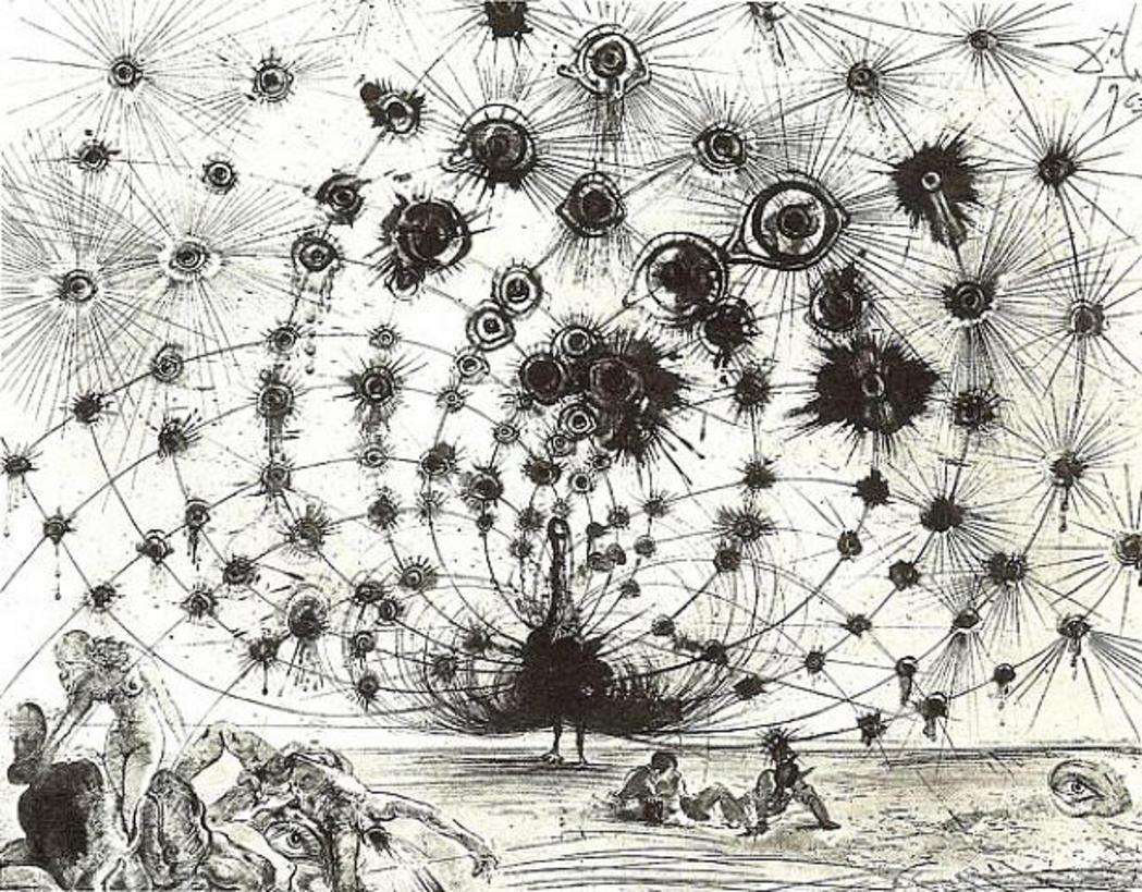 Dali, Argus 1960, etching 22x30