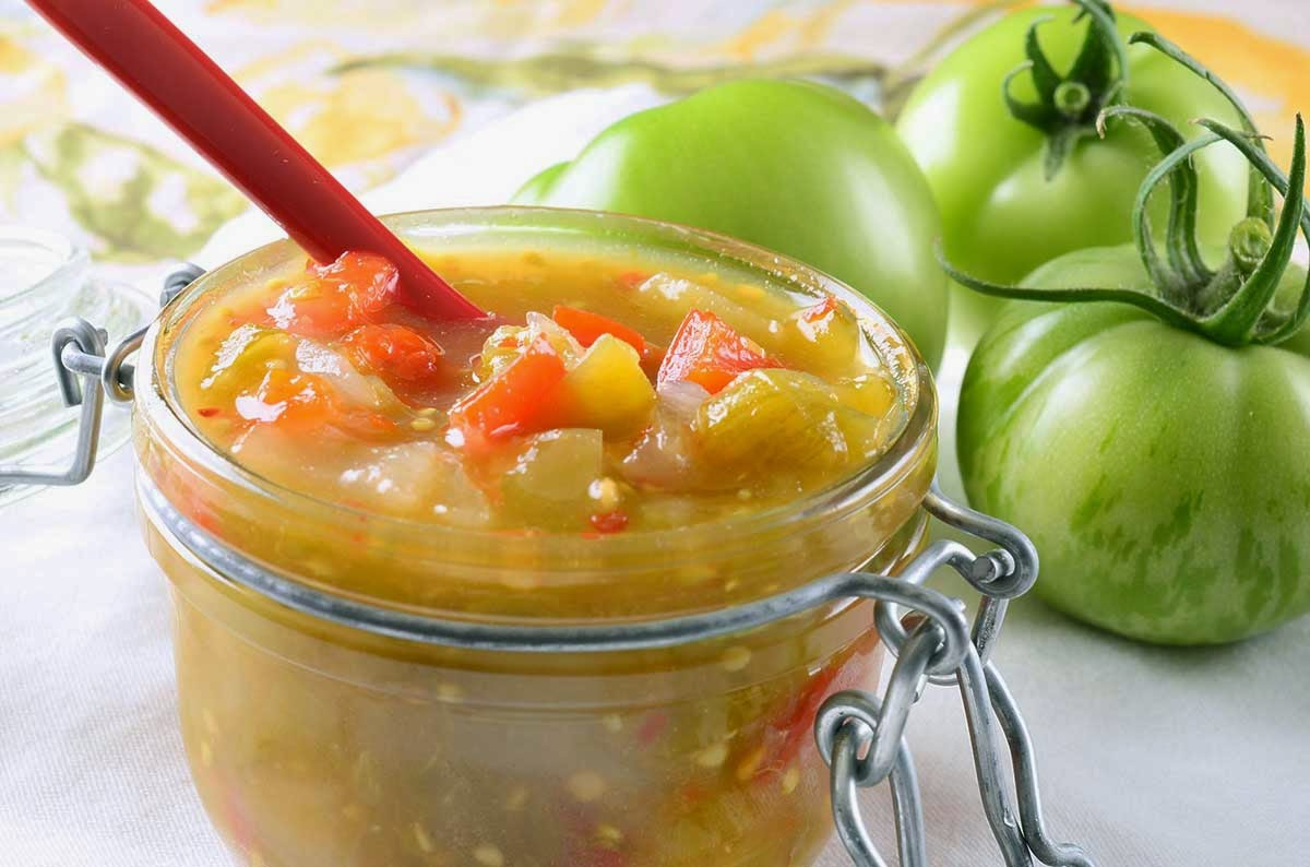 Spicy Green Tomato Relish