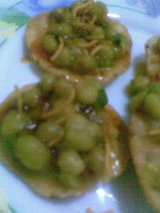 dry green peas ghugni with papdi