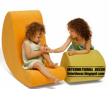yellow couch rocking chair for kids bedroom furniture