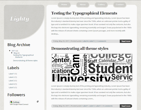 Lighty Blogger Theme