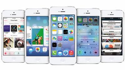 أبل ، أى فون 5S ، أى فون 5C ، نظام IOS 7