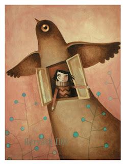 madárból kitekintő lány, tavasz, szabadság, girl in bird, spring, freedom
