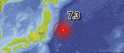 TERREMOTO 7,3 GRADOS SACUDE JAPON EL 25 DE OCTUBRE 2013