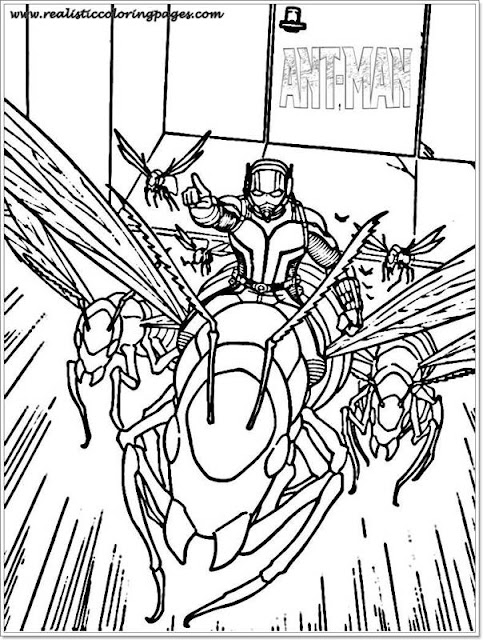 free ant man printable coloring sheet