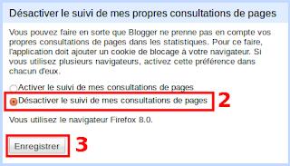 Désactiver le suivi statistique de vos propres visites sur Blogger