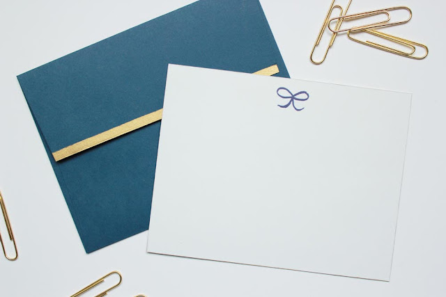 new gold foil stationery sets