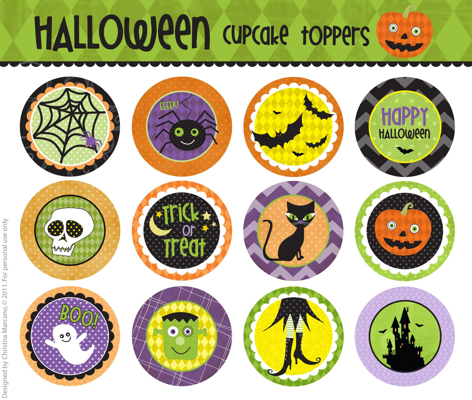 cm2 halloween cupcake toppers f r e e printable