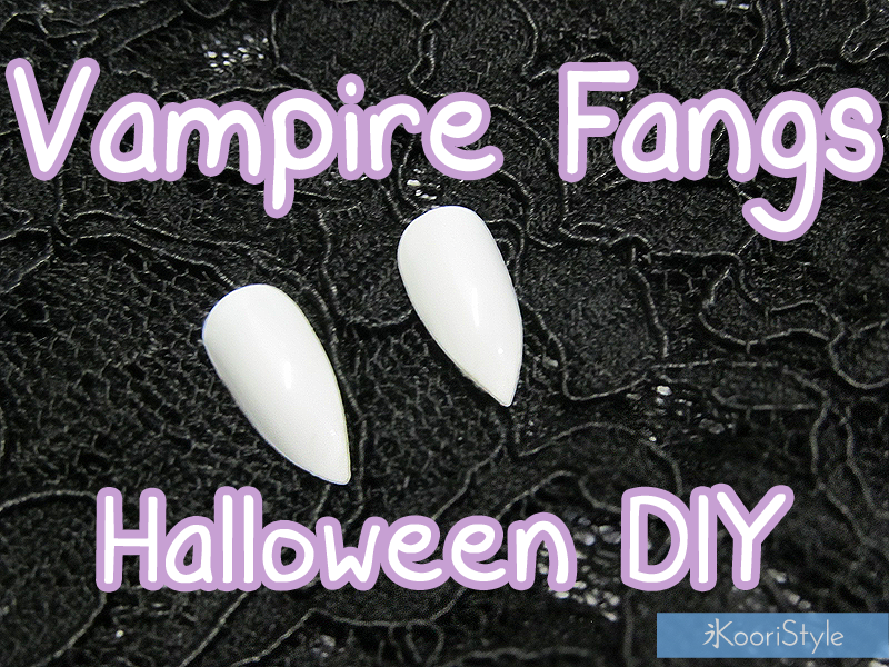 Tutorial, DIY, Do It Yourself, Handmade, Kawaii, Cute, Koori Style, Koori Style, Koori, Style, Decoration, Deco, Halloween, Idea, Ideas, Costume, Cosplay, ハロウィーン, コスプレ, Spooky, Horror, Creepy, Vampire, Fangs, Vampiro, Colmillos