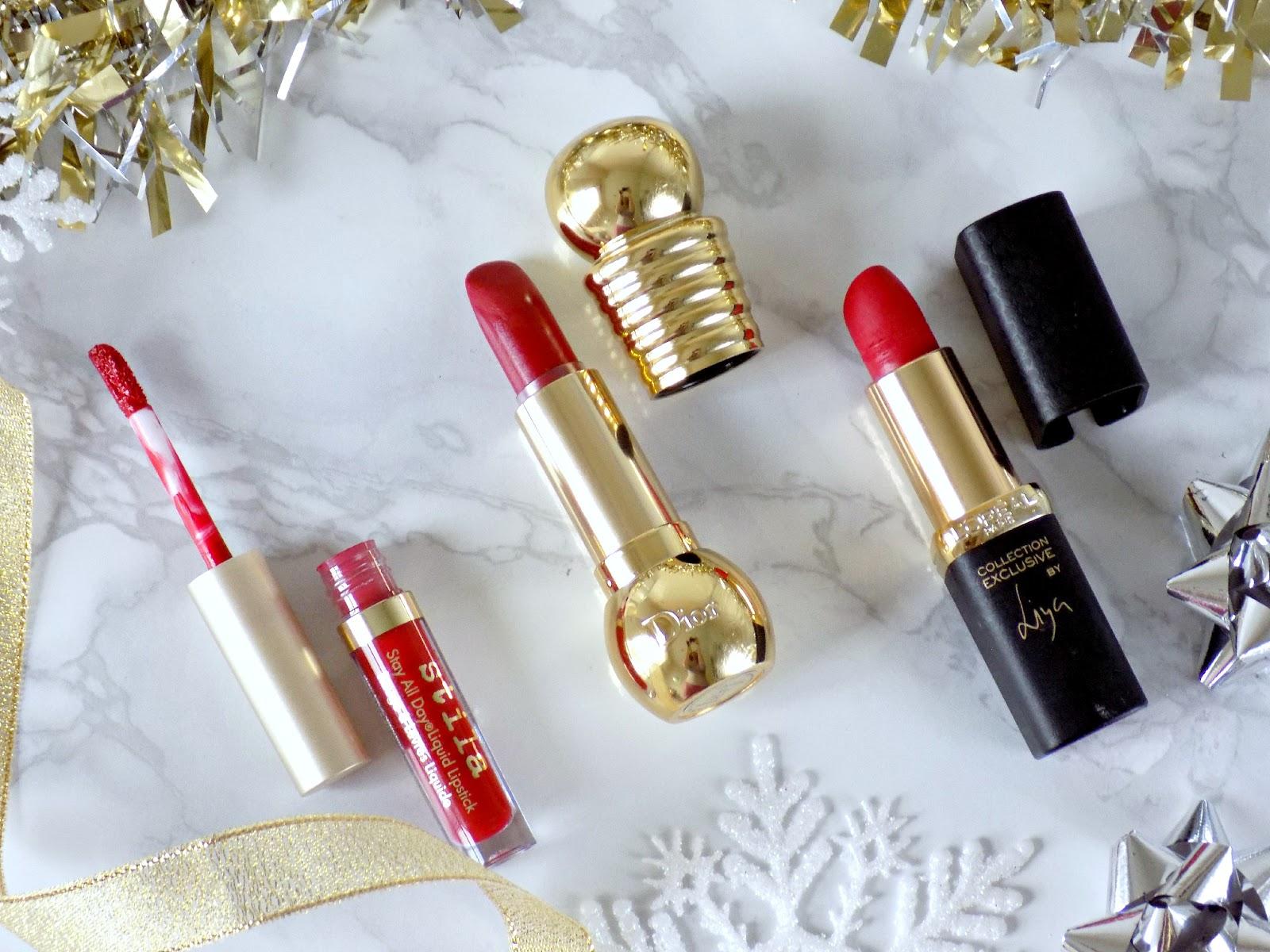 Festive red lipsticks