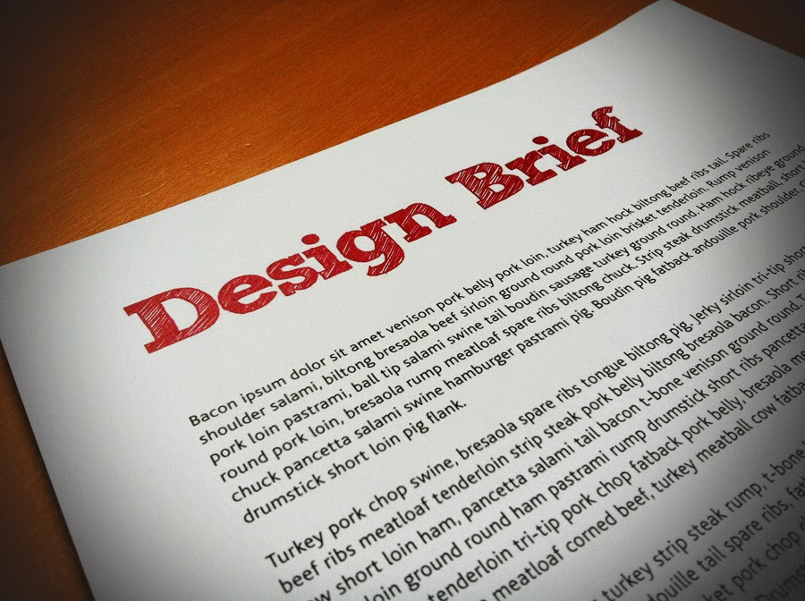 how to make a design bried