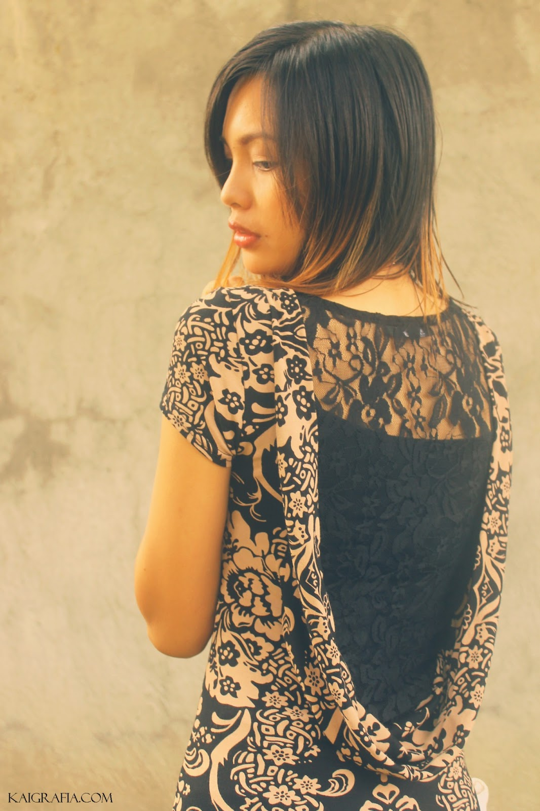 bare back damask dress and flats