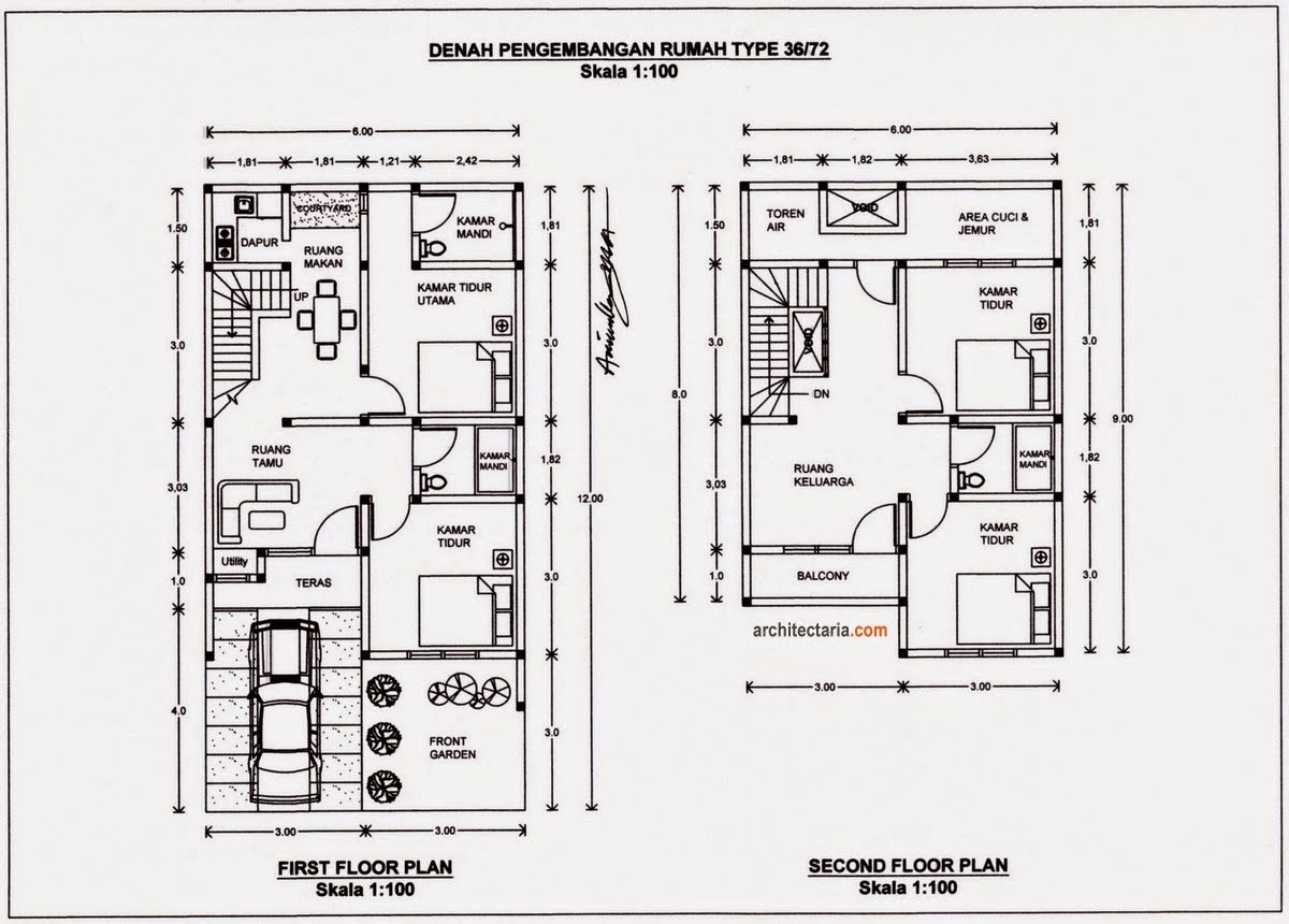 Rumah Minimalis 2 Kamar Type 36
