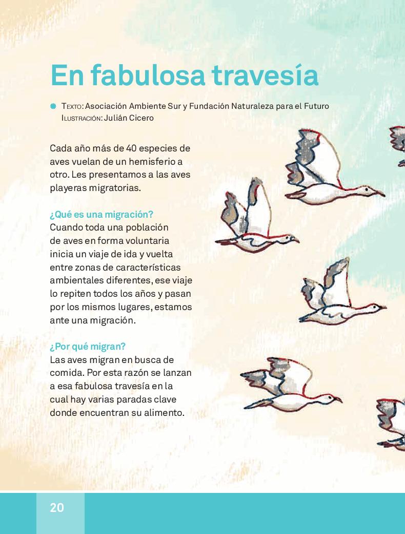 En fabulosa travesía - español lecturas 3ro 2014-2015