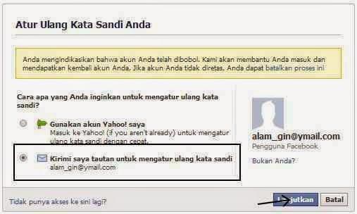 Mengembalikan facebook yang di hack