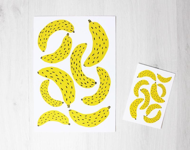 banaaniprinttejä