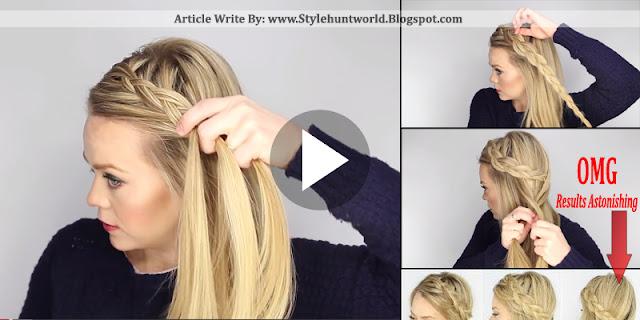 Dutch Fishtail Side Braid Hair Style Tutorial, Full Step By Step