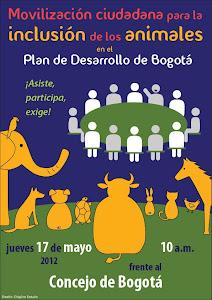 Movilización Ciudadana para la Inclusión de los Animales en el Plan de Desarrollo de Bogotá