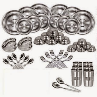 Buy iDeals Stainless Steel Dinner Set – 51 Pcs at Shopclues Rs. 799 only.