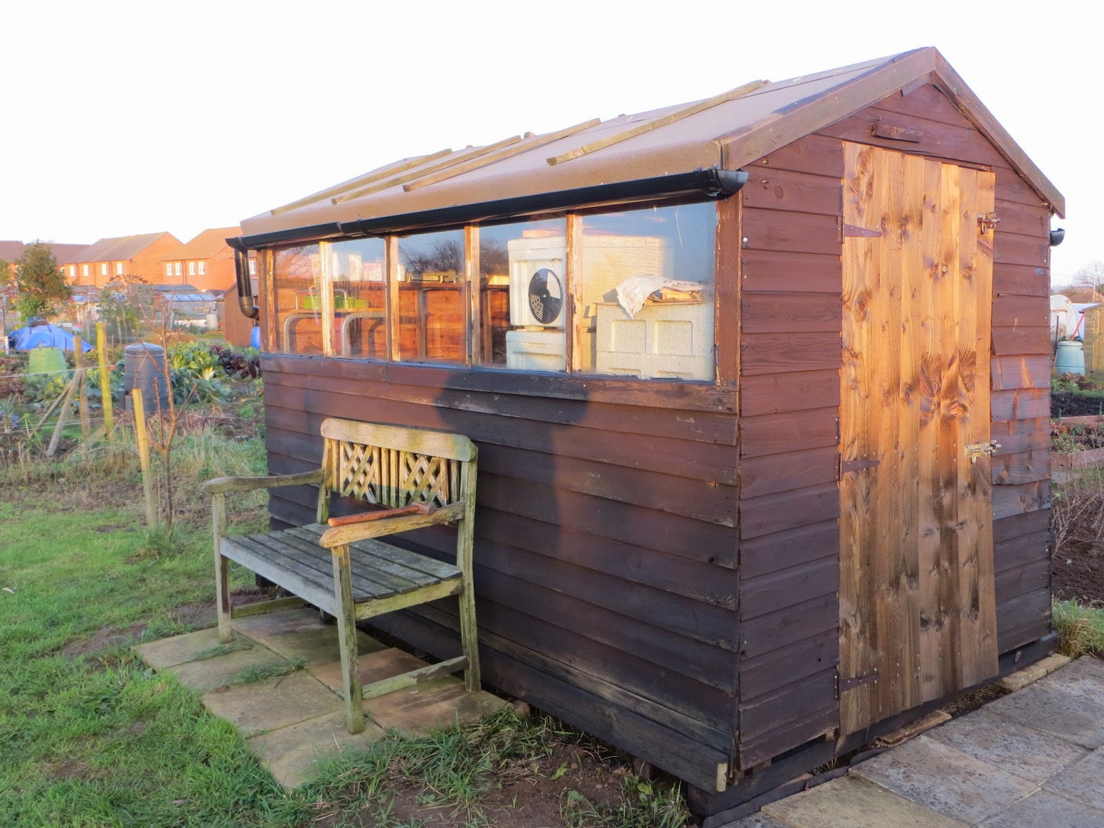 The shed finished.