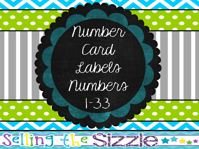 http://www.teacherspayteachers.com/Product/Number-Card-Labels-Blue-Green-Gray-Themed-1301946