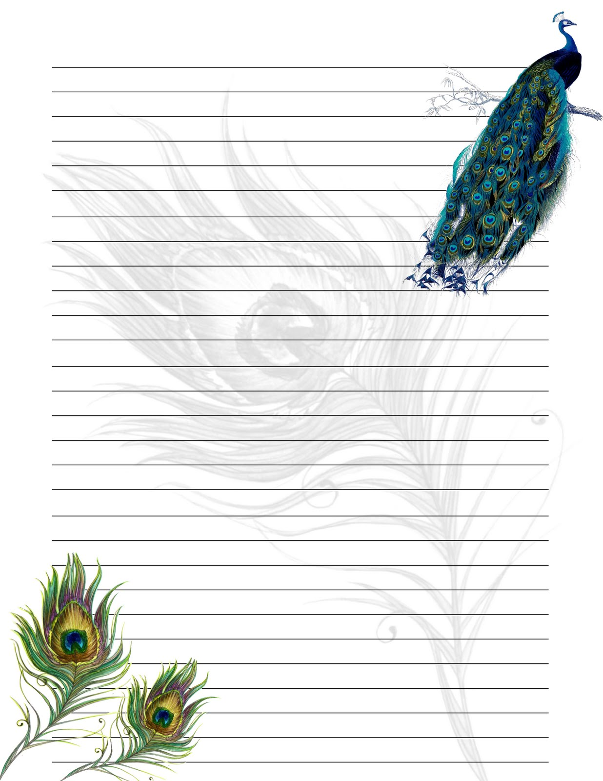 Gutsy image in stationery paper printable