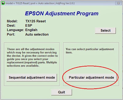 particular adjustment program epson stylus tx120